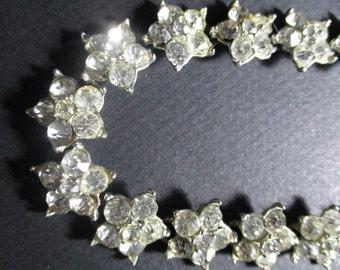 Rhinestone Necklace, Bridal Choker, Wedding Necklace, Crystal Rhinestone Necklace Woman's Jewelry Accessory