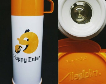 1980s Happy Eater Retro Thermos Flask by Aladdin