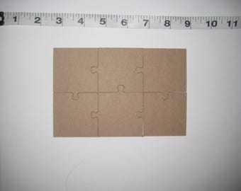 Puzzle die cut, Puzzle chipboard, Chipboard