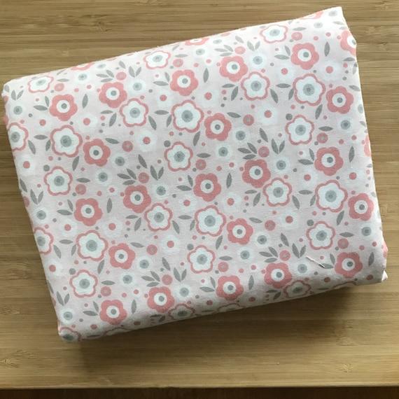 Furoshiki Gift Wrapping Cloth - Large Japanese Cotton Furoshiki - Pink and Gray Sakura Design by Kendo Girl