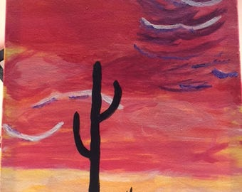 Cactus in the sunset