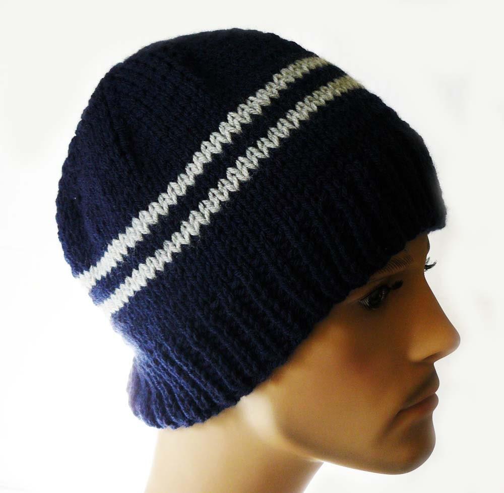 Knitting PATTERN Knit Beanie Pattern Mens Knit Hats