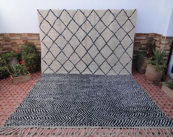 AMAZING carpet  beni ourain vintage 100% WOOL moroccan berber great texture rugs