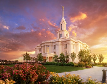 Payson LDS Temple Photography Print