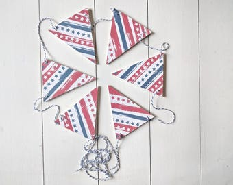 Freedom Wood Bunting, patriotic banner , Fourth of July banner , 4th of July bunting , patriotic bunting, garland, banner
