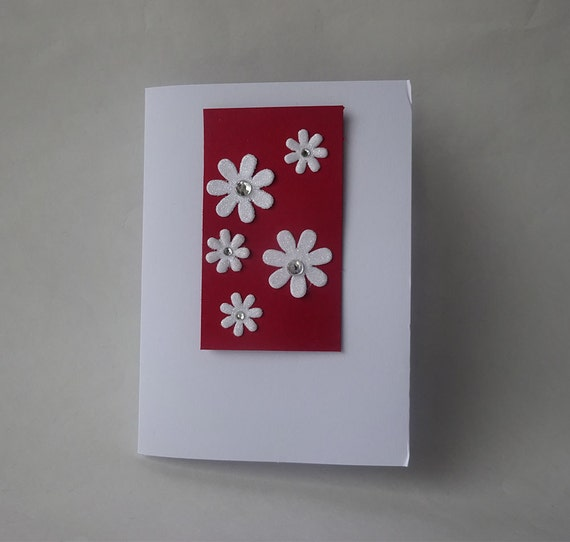 Sale! Valentine's Card - Handmade Card with Flowers - G3