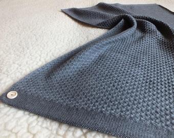 Merino wool knit baby blanket - Merino Baby Blanket - Natural Baby Blanket - Newborn blanket