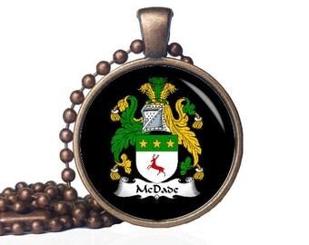 Custom Family Crest Necklace - Family Crest - McDade Crest - Family Reunion