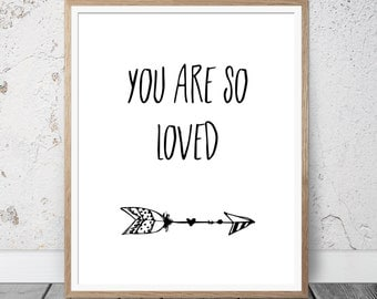 you are so loved wall art, art decor, nursery art, nursery decor, nursery wall art, playroom decor, playroom sign, playroom art, prints