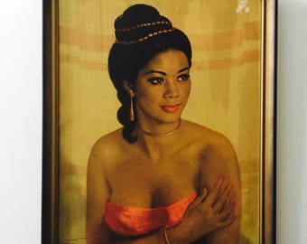 Vintage Print Syucu Girl from Bali by Walter Lambert