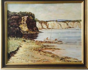 Vintage original Painting Australian Artist Titled Tranquility