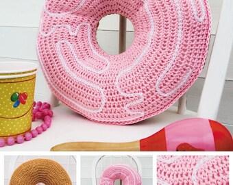 DMC donut haak patroon, taart gehaakt patroon, patroon van de ring, haak ontwerp