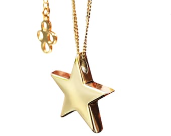 Stella Star Necklace, solid 9ct Gold
