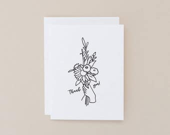Thank You Card – Bouquet of Flowers