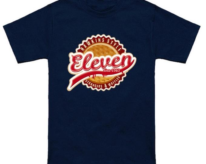 ELEVEN WAFFLE CO. T-Shirt Stranger Things Eggos Barb Lucas Mike Dustin Will Joyce  Pop Culture Funny Geek/Nerd Shirt
