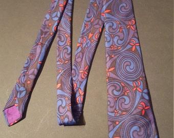 Vintage 1970s Silk Tie, Bedford Silk