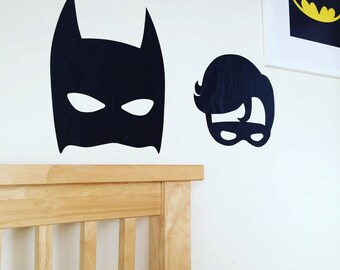 Batman inspired~Batman and Robin inspired~Superhero Decor~Wall Decals~Wall Stickers~Batman inspired Wall Decal ~Batman inspired Wall Sticker