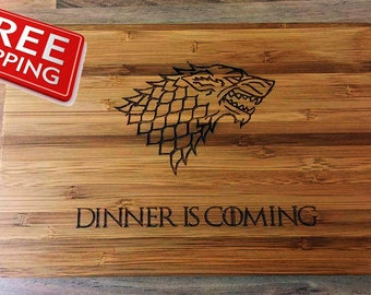Game of Thrones, Dinner is Coming Wooden Chopping Board