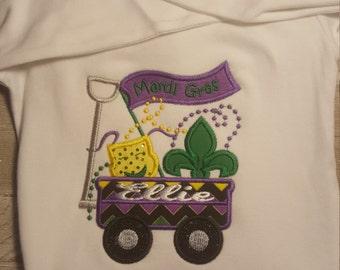 Mardi Gras Wagon Applique