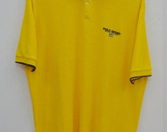 POLO Ralph Lauren Shirt Vintage 90's Polo Sport Ralph Lauren Polo Tee T Shirt Size LL