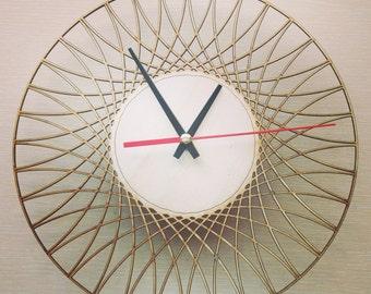 Laser cut Wall Clock, Laser Cutting Wood Clock, Modern Design Laser Cut Clock, Parametric Geometric Wall Clock, Unique Clock