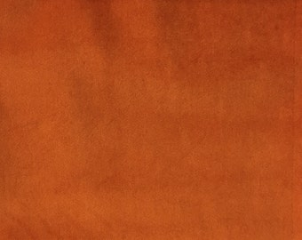 Velvet Upholstery Fabric - Liberty - Satsuma - Ultra Plush Microvelvet Upholstery Velvet Fabric by the Yard - Available in 38 Colors