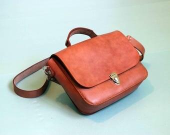 Leather briefcase womens briefcase vintage briefcase brown briefcase small briefcase handmade briefcase leather handbag woman satchel