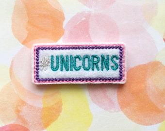 Unicorn Felties, Word Felties, Hashtag Felties, Coffee Cozy, Planner Clips, Felt Applique