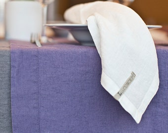 LINEN NAPKINS stone washed and softened . Made by LinCONCEPT