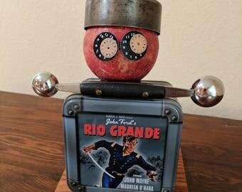 """Meet:""""Dim Sum"""" Found Object Art Assemblage Robot"""
