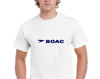 BOAC Classic British Aircraft Logo T Shirt by Ameiva Apparel