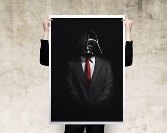 Darth Vader Business Art Print Poster
