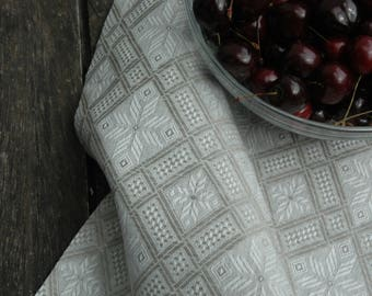 Linen/cotton tablecloth with ethnic patterns, linen tablecloth, everyday tablecloth