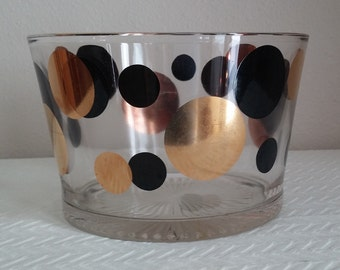 ON SALE 50% Off Entire Shop -Vintage Russel Wright Eclipse Pattern Glass Ice Bowl made by Bartlett Collins in the 1950's, Eclipse Pattern
