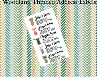 Woodland Animal Return Address Label