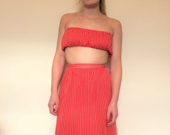 vintage. 1970s candy striped co-ord