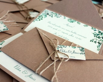rustic wedding invitations, vintage wedding invitations, handmade wedding invitations, wedding invitations, rustic wedding, vintage wedding