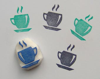 Coffee rubber stamp, coffee stamp, coffee mug stamp, coffee cup stamp, hot coffee stamp, coffee time stamp, cup of coffee, cafe stamp, gift