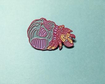 Hermit crab skull pin