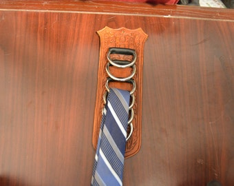 Leather Tie or Scarf Rack
