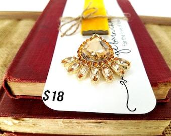 Jeweled Velvet Bookmark