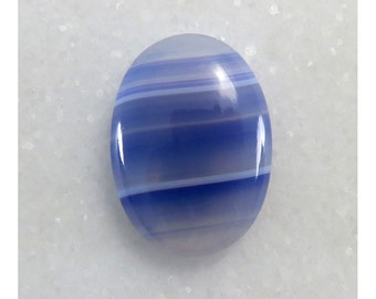 17Cts 25X18X5 mm Excellent Blue Botswana Agate Oval Shape Cabochon Loose Gemstone Jewelry Making Semi Precious Wholesale Stone B-2264