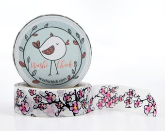 Cherry Blossom Washi Tape - with Touches of Gold Foil