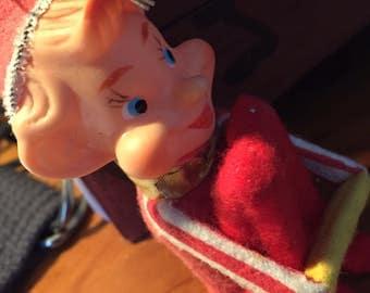 Vintage CREEPY Holiday Decoration - Scary Elf! 1950s-1970s