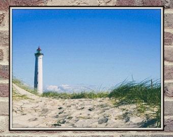 Beach Art, Beach Decor, Modern Coastal Decor, Beach Photo, Beach Hut, Coastal Wall Art, Printable Poster, Digital Download