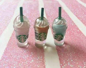 Coffee Drinks/Cups  Flat back Cabochon Kawaii Cabochon Deco Pieces- 2 Pcs