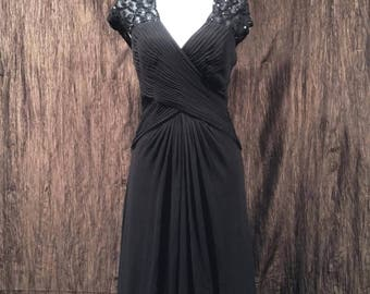 Tadashi Collection black formal dress, size 12, free shipping