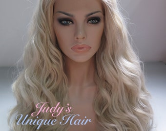 Long Curly Ash Blonde Synthetic Lace Front Wig / Game of Thrones Daenerys Targaryen Wig