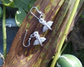 Silver Raven Pierce Earring