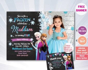 frozen invitation, elsa princess invitation - Elsa invite, Frozen Invitation, Frozen Birthday Party, Elsa party invite, Frozen party